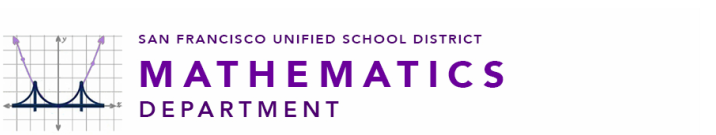 SFUSD Mathematics